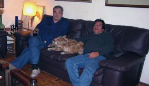 Con Lichi en su apartamento en Mexico dic 2010