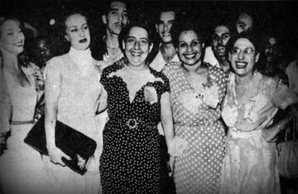 Rosa Fornes, Rita Montaner, Mimi Cal y Violeta Casals