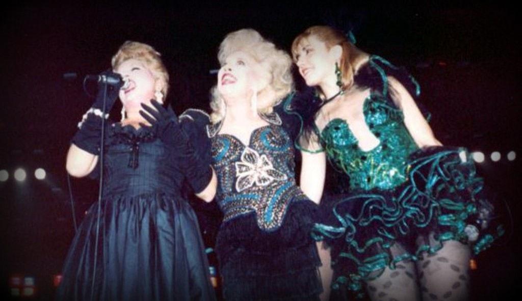 Rosa Fornes, Mirtha Medina y Rebeca Martinez